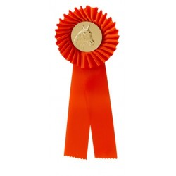 Rozet G101-2 paardenhoofd in 10 kleuren